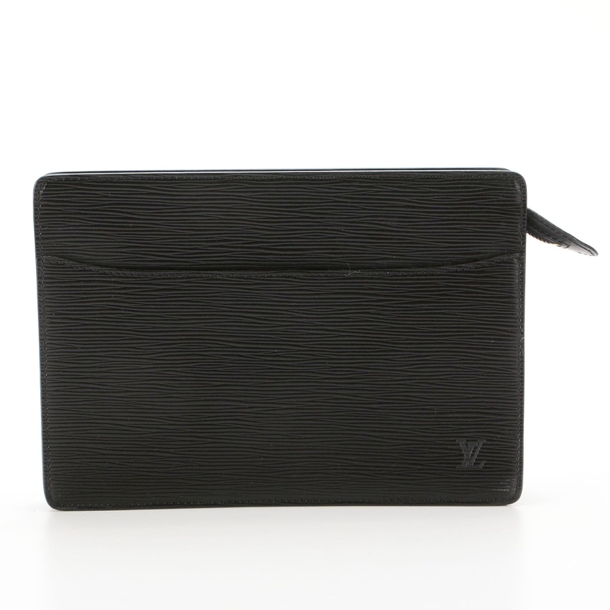 Louis Vuitton Pochette Homme in Black Epi Leather