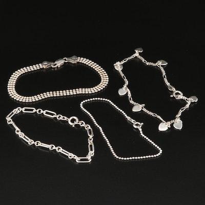 Sterling Silver Chain Bracelets