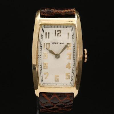 1934 Waltham 14K Yellow Gold Stem Wind Wristwatch