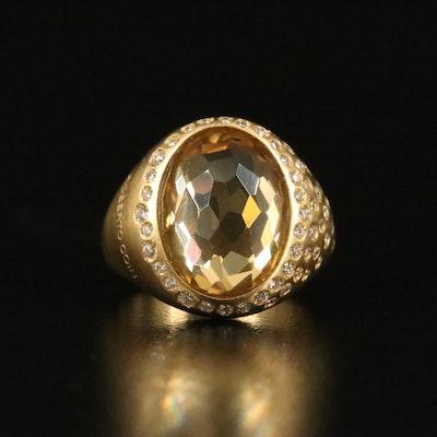 Roberto Coin 18K Citrine and Diamond Ring