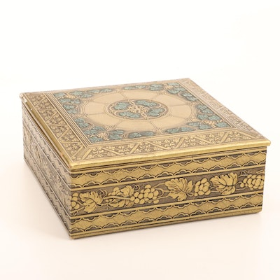 Decorated Cardboard Candy Box, Early-Mid 20th Century
