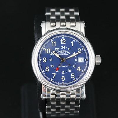 MÜHLE GLASHÜTTE  Duotime I Stainless Steel Automatic Wristwatch