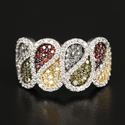 Suzy Levian Sterling Cubic Zirconia and Spinel Ring