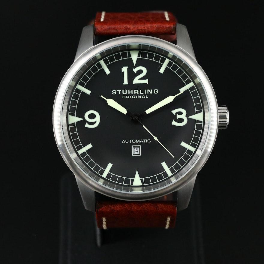 Stührling Tuskegee Flier Stainless Steel Automatic Wristwatch