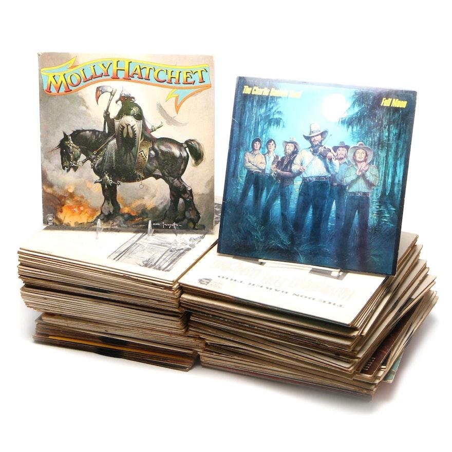 Beatles, Molly Hatchet, Charlie Daniels Band, Other Vinyl LP Records