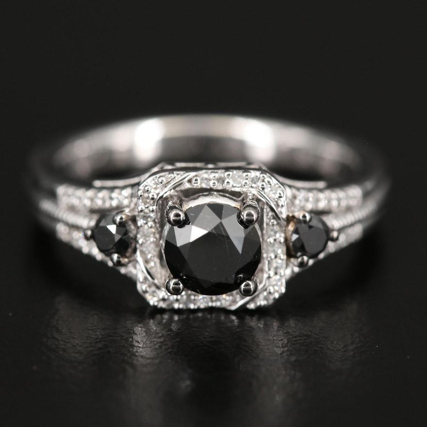 Sterling Diamond Ring