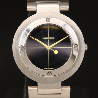 Android Inter-Cross Modular Stainless Steel Quartz Wristwatch