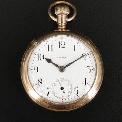 1900 Waltham P.S. Bartlett Gold Filled Open Face Pocket Watch