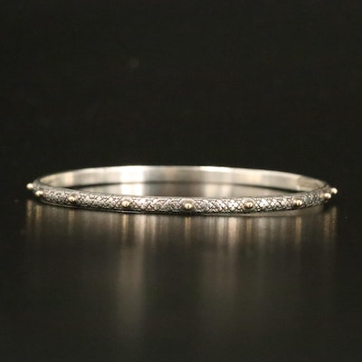 """Konstantino """"Classics"""" Sterling Bangle with 18K Accents"""