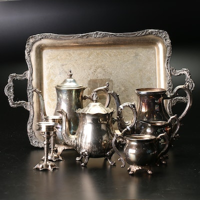 FB Rogers Silver Co. Silver Plated Tea Set With Serving Tray