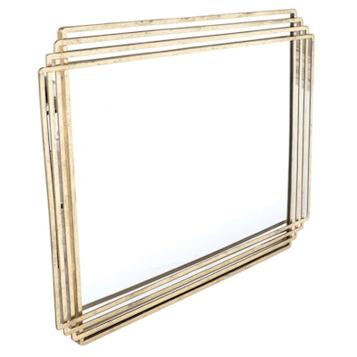 Deco Style Gold Leaf Colored Vanity Mirror