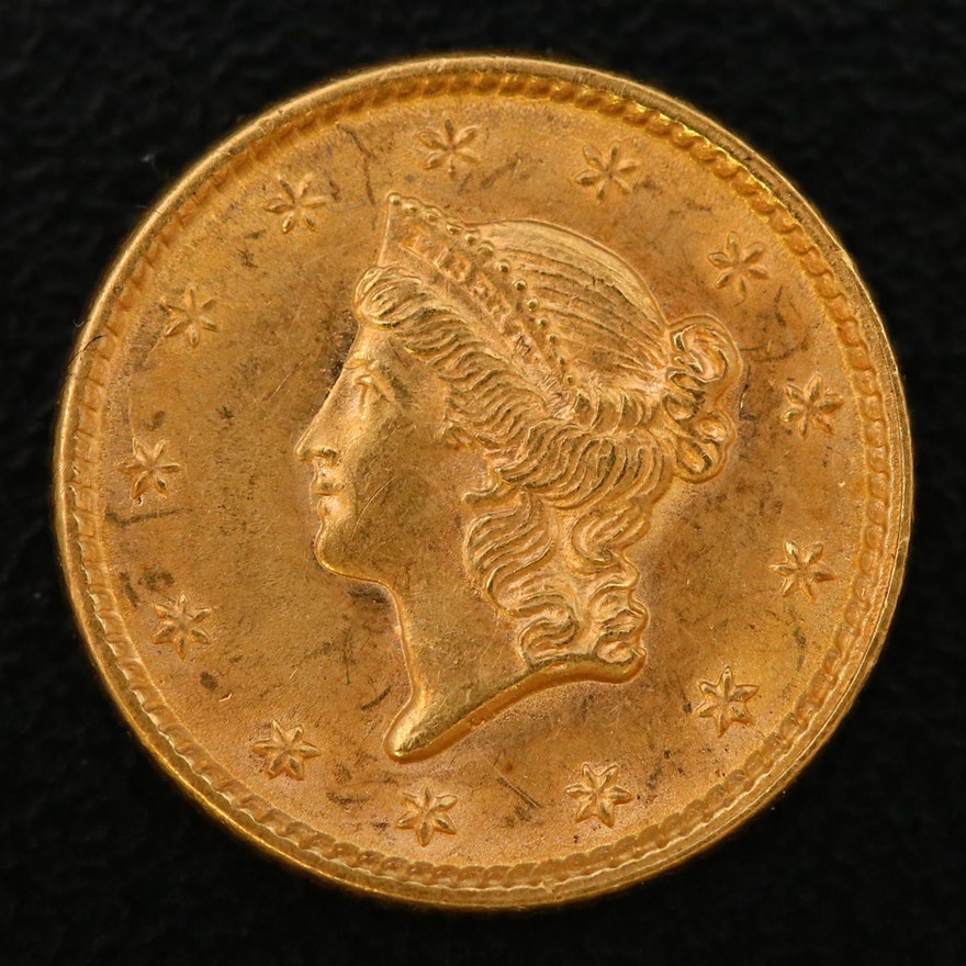 1852 Liberty Head Type 1 Gold Dollar