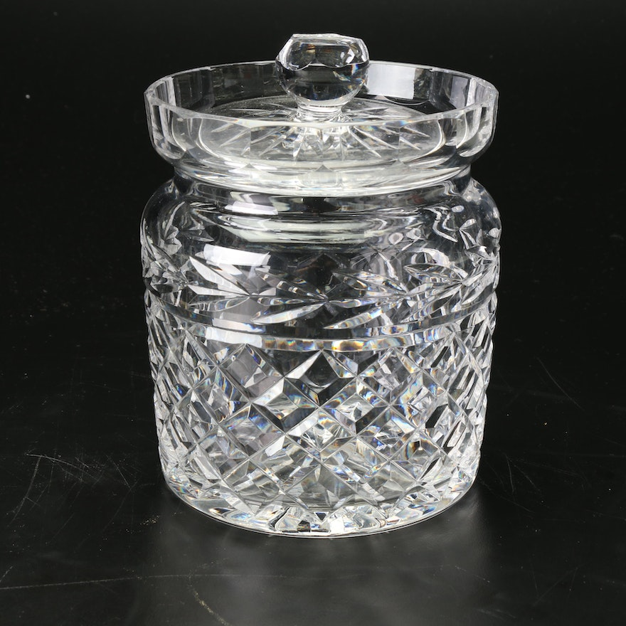 """Waterford Crystal """"Glandore"""" Biscuit Barrel, Late 20th Century"""