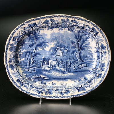 """Booths """"British Scenery"""" Porcelain Serving Platter, Late 19th or Early 20th C."""