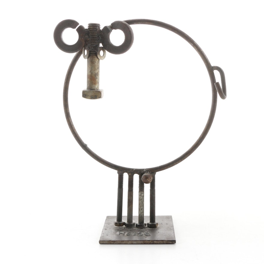 Bill Heise Recycled Metal Sculpture, 20th Century