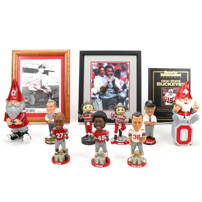 Woody Hayes, Jim Tressel Ohio State Football Prints, Limited Edition Bobbleheads