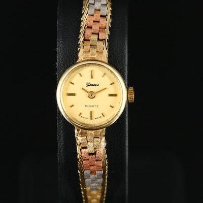 Geneve 14K Tri-Tone Quartz Wristwatch