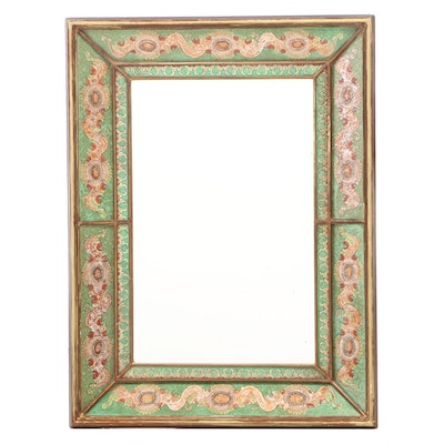 Robert M. Weiss Giltwood and Reverse-Decorated Mirror