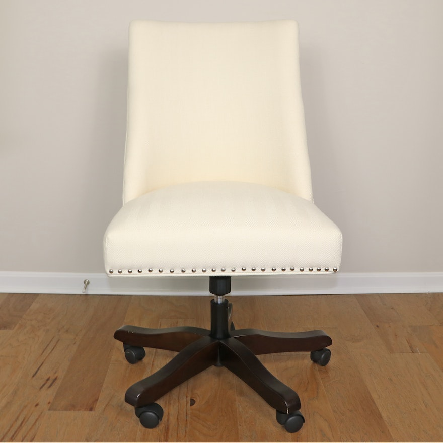 """Safavieh """"Scarlet"""" Upholstered Desk Chair with Nailhead Detail"""