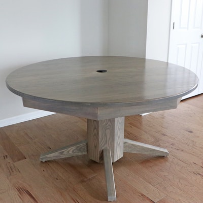 Circular Conference Table with Power Hub