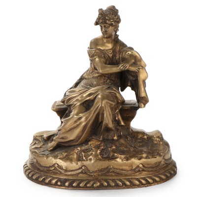 Cast Brass Mantel Statuette