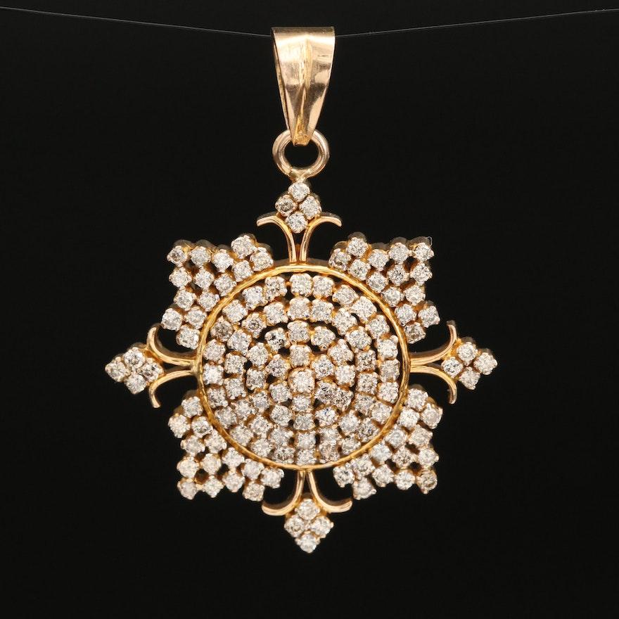 14K 1.50 CTW Diamond Pendant