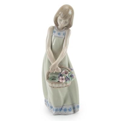 """Lladró """"Floral Treasures"""" Porcelain Figurine Designed by Vicente Martínez"""