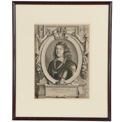 Pieter de Jode II Engraving After Anselmus Van Hulle of Eberhard III