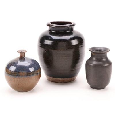 Paul Bellardo Ceramic Vase and Other Wheel-Thrown Vases