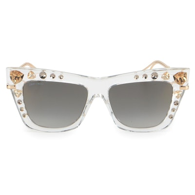 JImmy Choo Special Edition BEE/S Modified Cat Eye Sunglasses with Case