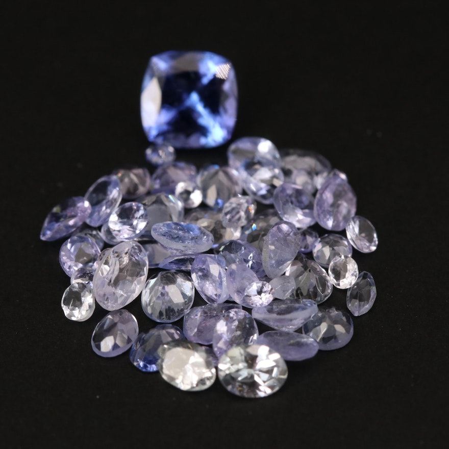 Loose 6.15 CTW Mixed Faceted Tanzanite