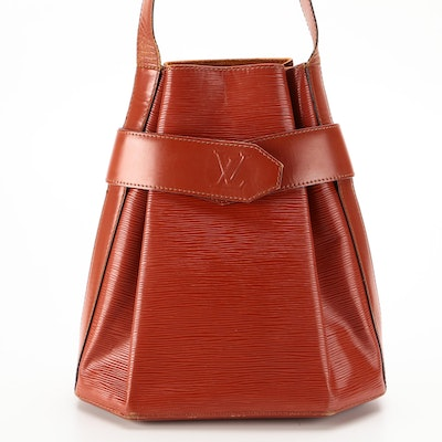 Louis Vuitton Sac D'Epaule in Kenyan Fawn Epi and Smooth Leather