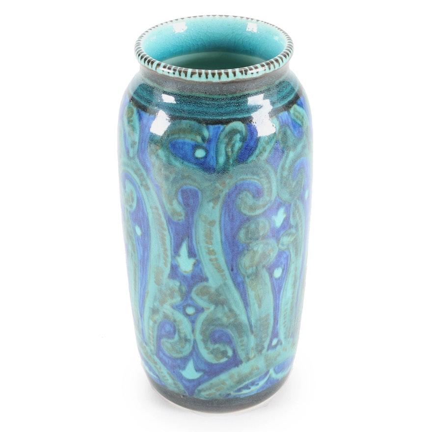 William E. Hentschel for Rookwood Pottery Vase with Blue Overglaze, 1920