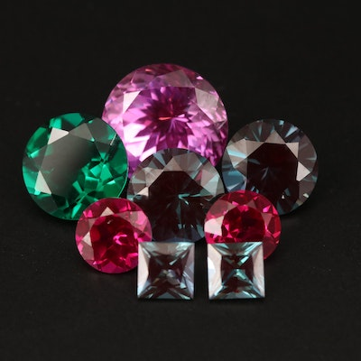 Loose Faceted Alexandrite, Ruby, Emerald and Additional Gemstones