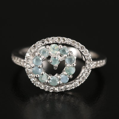 Sterling Alexandrite and Zircon Ring