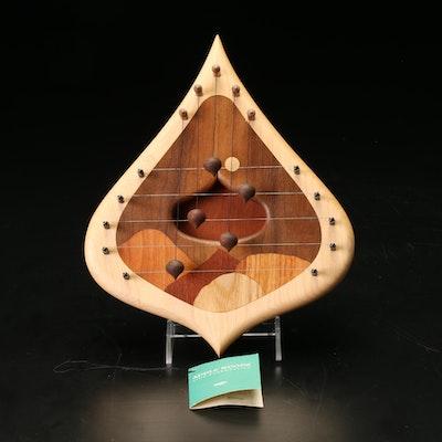 Apple Woods Handcrafted Maple, Walnut, and Oak Wood Swedish Door Harp