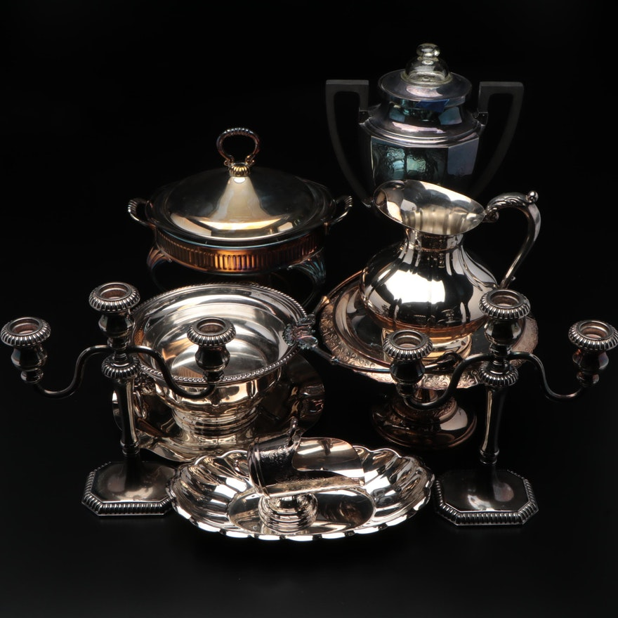 The Sheffield Silver Co. and Other Silver Plate Tableware, Mid-Late 20th Century