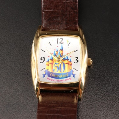 Disney 50th Anniversary of Disneyland Gold Tone Wristwatch