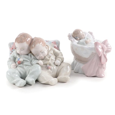 """Lladró """"A New Treasure"""" and """"Little Dreamers"""" Porcelain Figurines"""