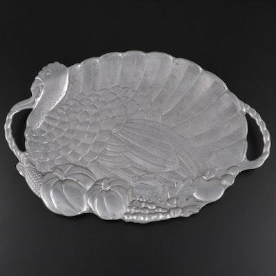 "Lenox ""Americana"" Oval Metal Turkey Platter"