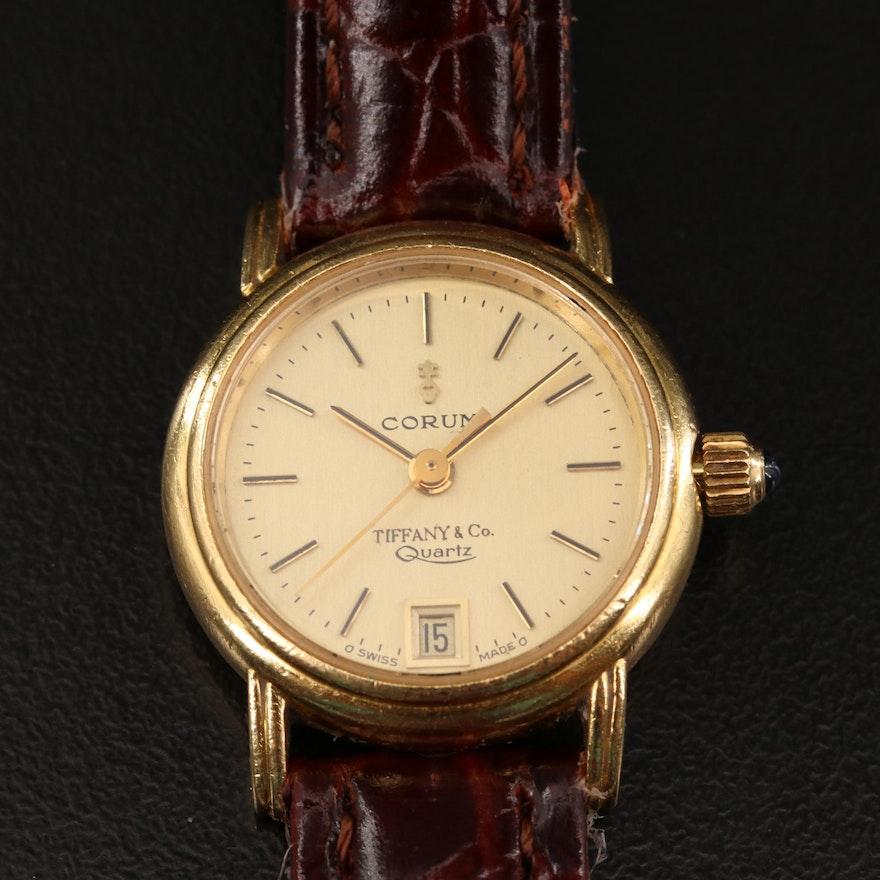 Vintage Corum for Tiffany & Co. 18K Gold Quartz Wristwatch
