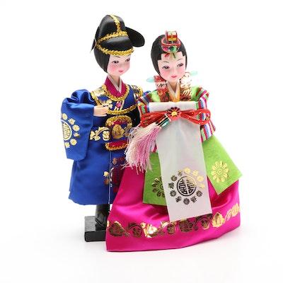 Korean Wedding Dolls with Stand