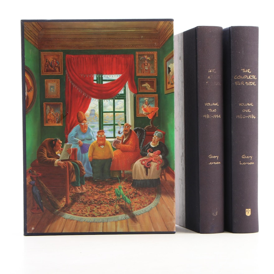 """First Edition """"The Complete Far Side"""" Two-Volume Set by Gary Larson, 2003"""