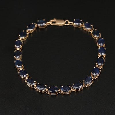 14K Sapphire Bracelet