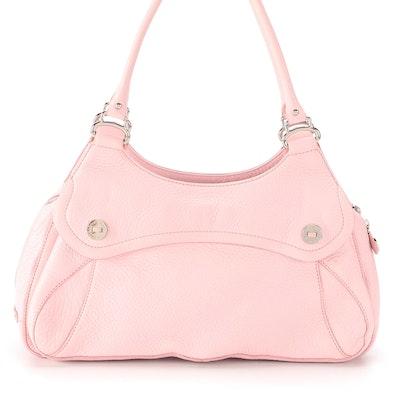 Cole Haan Village Collection F04 Shoulder Bag in Light Pink Pebbled Leather