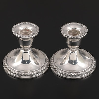Rogers Weighted Sterling Silver Candle Holders