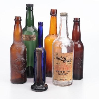 Statehouse Rye Whiskey and Other Glass Ohio Bottles