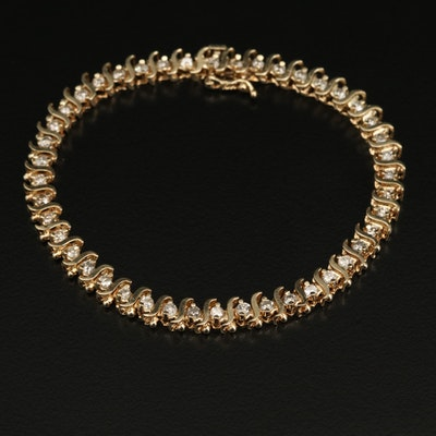 10K 2.25 CTW Diamond S-Link Bracelet