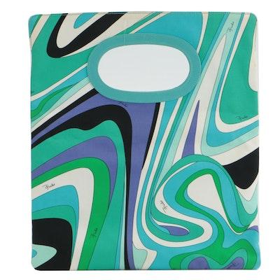 Emilio Pucci Tote Bag in Multicolor Abstract Print