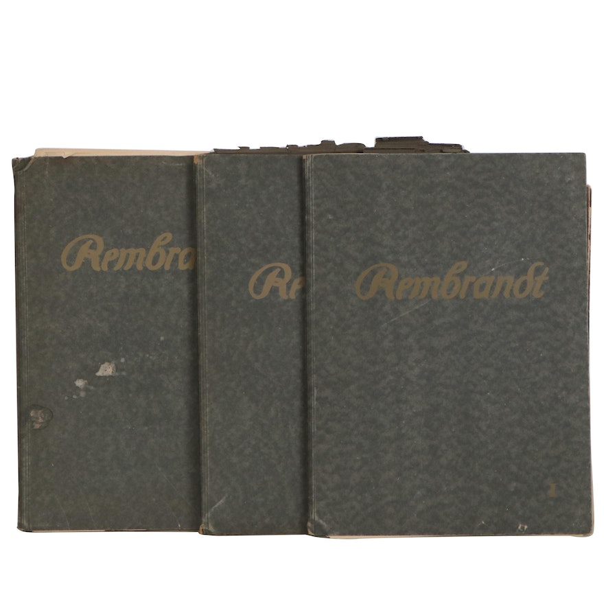 """""""Complete Etchings of Rembrandt"""" Vol. I–III Folios Edited by Singer and Springer"""